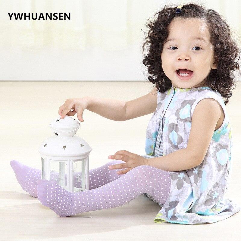 YWHUANSEN été Dot collants enfants velours collants pour filles vente Anti-moustique bébé bande dessinée collants Collant Enfant danse