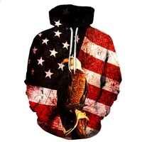 BIANYILONG 2018 Hoodies Man New Autumn Winter Fashion Men Women Hoodies Eagle Print 3d Hooded Sweatshirts