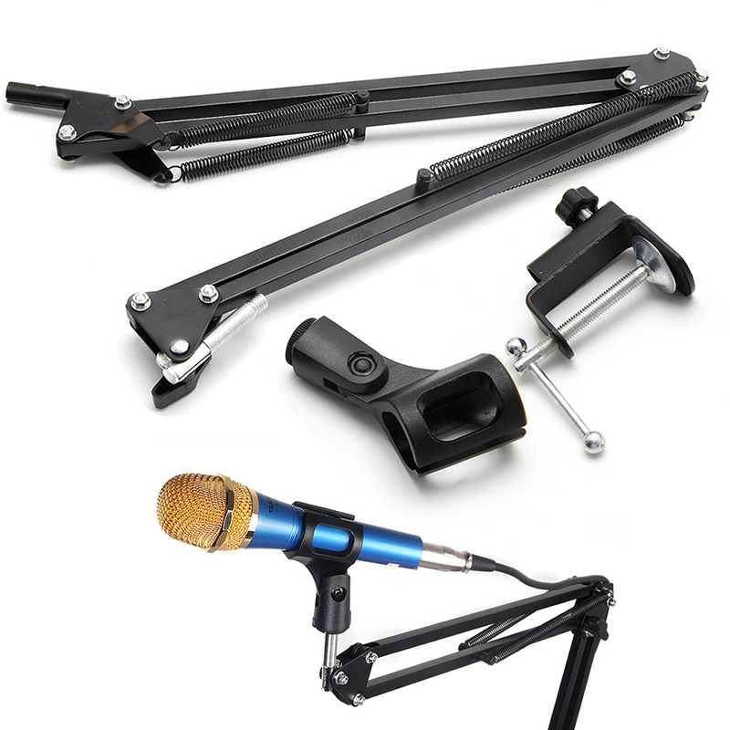 1 PC NB35 Microphone Foldable Tripod Table Capacitance Arm Moving Mic Stand Holder