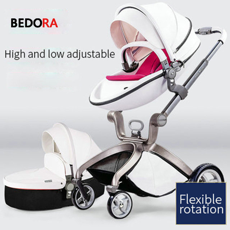 Bedora baby stroller high landscape can sit and lie down fold lightweight stroller Imported baby child trolley все цены