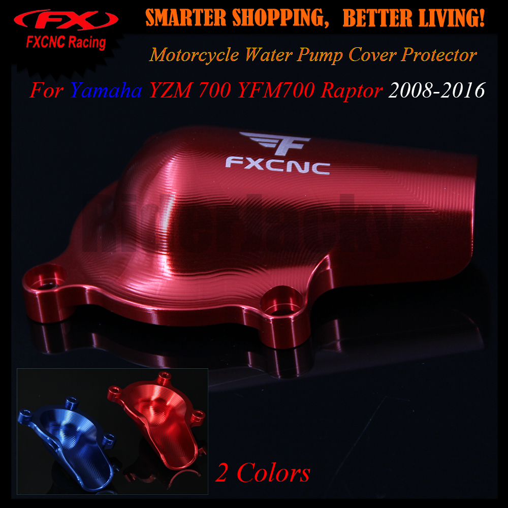 For Yamaha YZM 700 YFM700 Raptor 2008-2016 2012 2013 2014 2015 CNC Aluminum Red Motorcycle Water Pump Cover Protector Protection