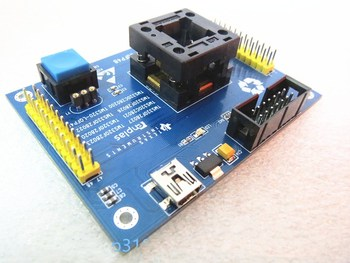 Opentop LQFP48 TMS320F28027 TMS320F28032 TMS320F28021 IC Burning Test Adapter seat Socket bench