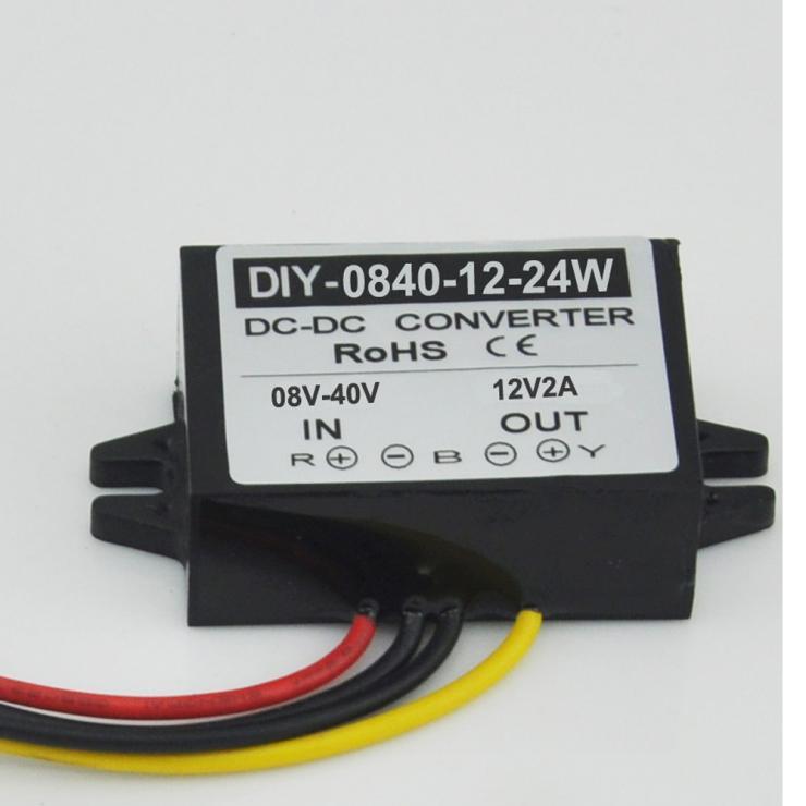 цена на 12V 24V(8V-40V) Step Down To 12V 2A 24W DC-DC Converter Module Power Adaptor Regulator Converter Boost Buck Converter Waterproof