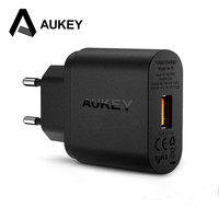Aukey usb 충전기 protable 스마트 빠른 충전기 3.0 어댑터 미니 여행 모바일 충전기 아이폰 삼성 샤오 미 테크 Redmi