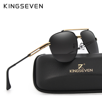 KINGSEVEN Sunglasses Men Original Brand HD  Lens Reflective Coating Driving Sunglasses Vintage Male
