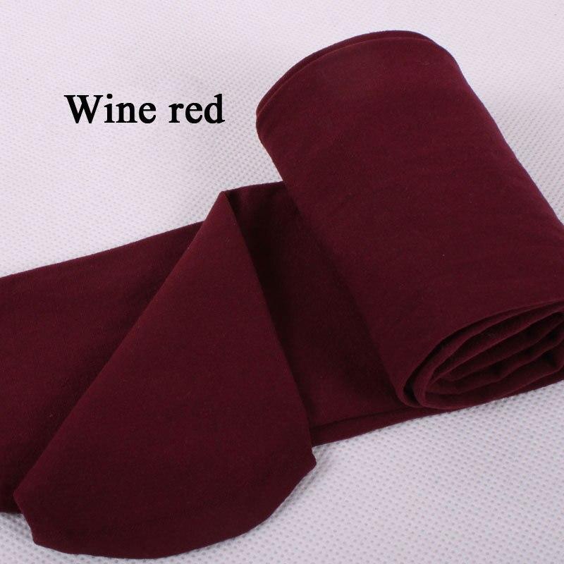 BIVIGAOS модные сексуальные Kawaii милые 120D бархатные бесшовные колготки ярких цветов колготки непрозрачные женские 18 цветов Сексуальные чулки - Цвет: Wine red