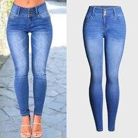 Hot Sexy Mujeres Stretch Jeans Boyfriend Jeans de Alta Calidad Para Las Mujeres Envío gratis Ropa Mujer Marca Demin Jeans Pantalones S746