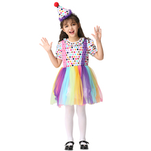 new unique girls kids halloween clown cosplay costume school party fancy dress outfit clothes stage performance costumes