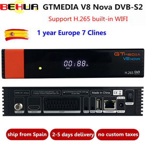Image 1 - V8 نوفا فك مع 1 سنة خط لأوروبا فريسات GTMedia ترقية V8 سوبر كامل HD DVB S2 استقبال الأقمار الصناعية المدمج في واي فاي