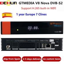 V8 Nova декодер с 1 год Cline для Европы Freesat GTMedia обновление V8 супер Full HD DVB S2 спутниковый ТВ приемник встроенный wifi