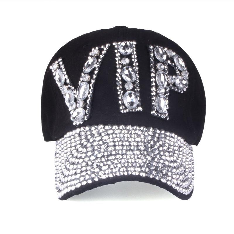 [YARBUU]CAP Wholesale 2017 Hat Rhinestone Print Denim hat Rivet Sun-Shading VIP Baseball Summer Womens Cap Jean Caps hip hop