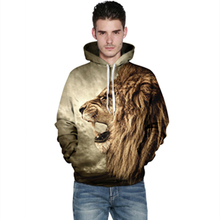 New 3D Printed Lion Fashion Sweatshirts Long sleeve with hat Cosplay Lion Costume Men Women Hoodies Animals Cosplay Sweatshirts