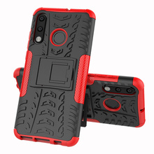 For Huawei P30 Lite Case Hybrid TPU Armor Silicone Rubber Hard  Back Cover Shockproof Impact
