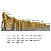 99 قطع تويست مثقاب شهدت مجموعة hss عالية السرعة الصلب أداة النجارة حفر المعادن الخشب 1.5/2/2.5/3/3.2/3.5/4/4.5/6.5/8/10 ملليمتر