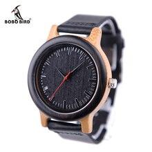 2017 Top Brand BOBO BIRD Watches Men Watch Wooden Genuine Leather Band Wristwatch as Gift relogios masculinos B-M13