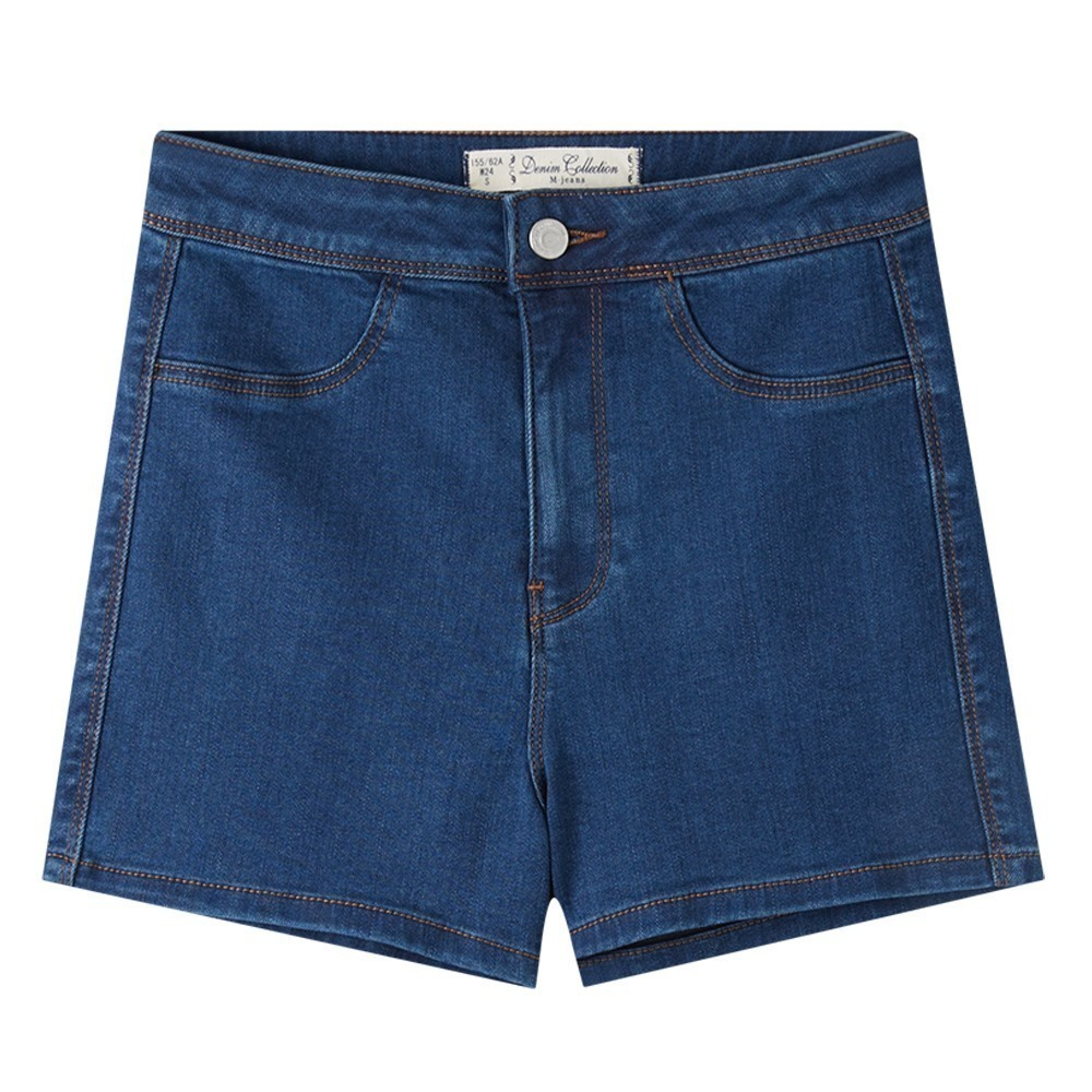 Metersbonwe brand denim   shorts   women   shorts   high waist denim   shorts   basic style