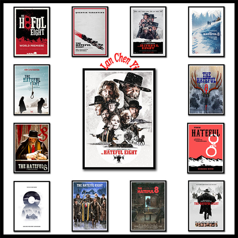 Quentin Tarantino Classic Movies The Hateful Eight White Coated Paper posters home decor High Quality Painting wall stickers image