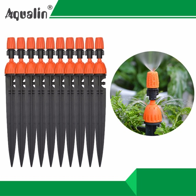 1Lot 10PCS Multifunctional Adjustable 8 Outlets Spray Dripper Irrigation Sprinklers Watering kits Drip Irrigation System#26301-N
