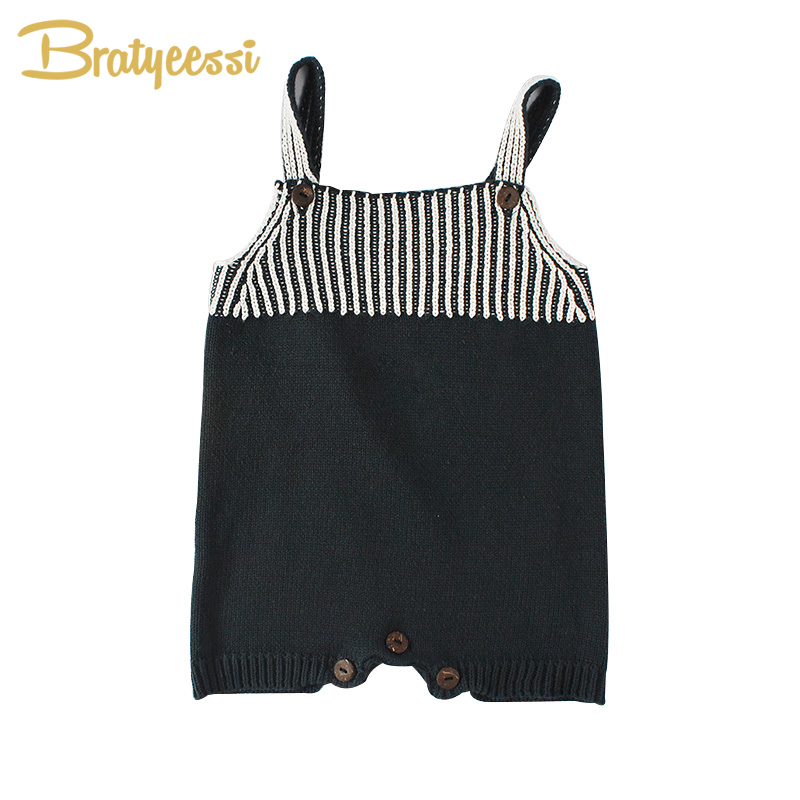 New Fashion Baby Rompers Knitted Sleeveless Onesie Infant Overalls Spring Autumn Toddler Romper Baby Jumpsuit Clothes