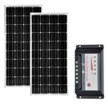 Zonnepaneel Set 24v 200w Solar Panel 12v 100w 2 Pcs Battery Charger Controller PWM 30A 12v/24v Motorhome Caravan Car