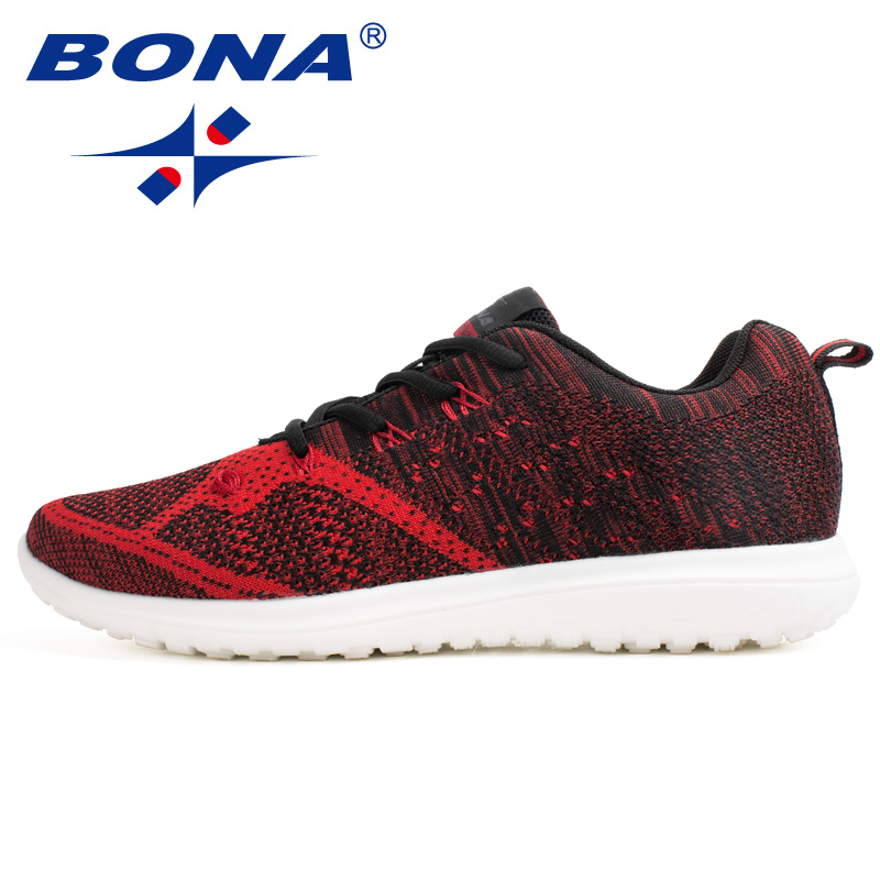 BONA New Arrival Popular Style Men Walking Shoes Outdoor Jogging Sneakers Lace Up Men Athletic Shoes Comfortable Free Shipping bona new designer popular style men tenis shoes leather outdoor jogging shoes athletic shoes lace up trendy sneakers shoes