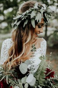 Image 5 - Vestido de noiva 2 Pieces Beach Wedding Dresses Lace A Line Chiffon Half Sleeves Bride Dress Bohemian Sexy V Neck Bridal Gown