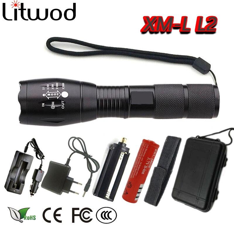 Z10ไฟและโคมไฟแสงแบบพกพาA100 LEDไฟฉายไฟฉายค้นหาโคมไฟ5โหมดZ Oomable 3000LM XML-T6/L2ตนเองกลาโหม