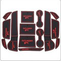 De alta qualidade para MITSUBISHI Outlander 2013 2014 14 pçs/lote portão de borracha pad slot de mat / pad carro Interior acessórios