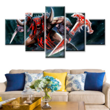 5 Piece HD Picture DOTA2 Video Game Poster Wall Sticker Lina Paintings Artwork Canvas Decoration Art for Home Decor