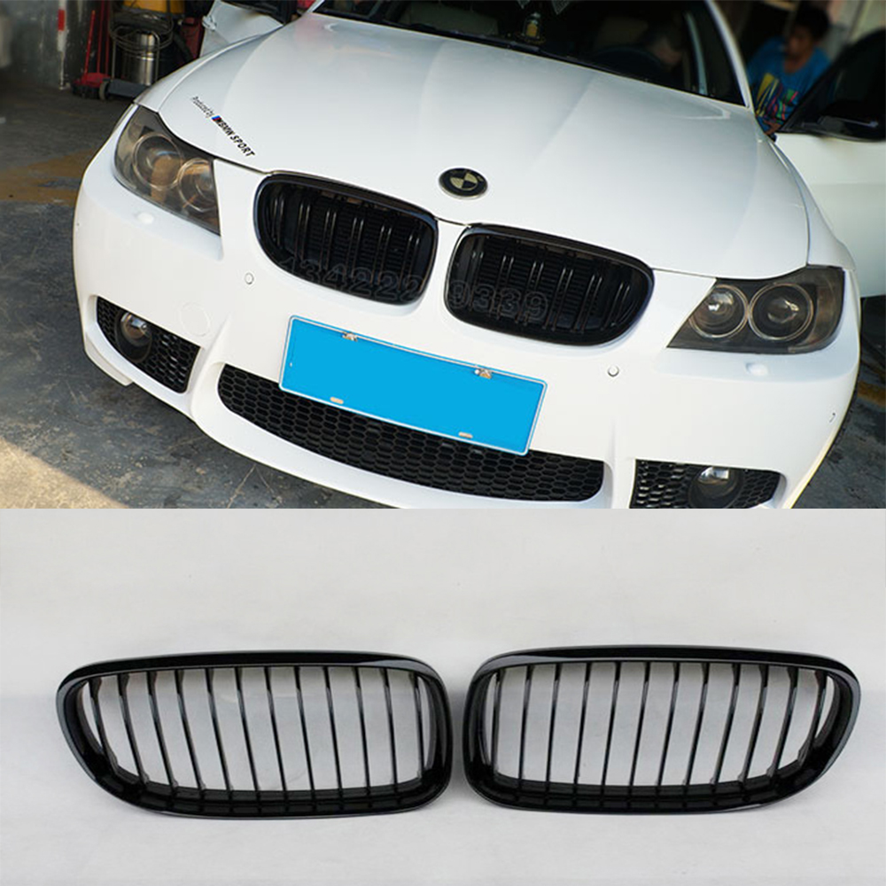 E90 LCI Glossy Black ABS Auto Car Front Bumper Mesh Grill Guard for BMW E90 2009-2012E90 LCI Glossy Black ABS Auto Car Front Bumper Mesh Grill Guard for BMW E90 2009-2012