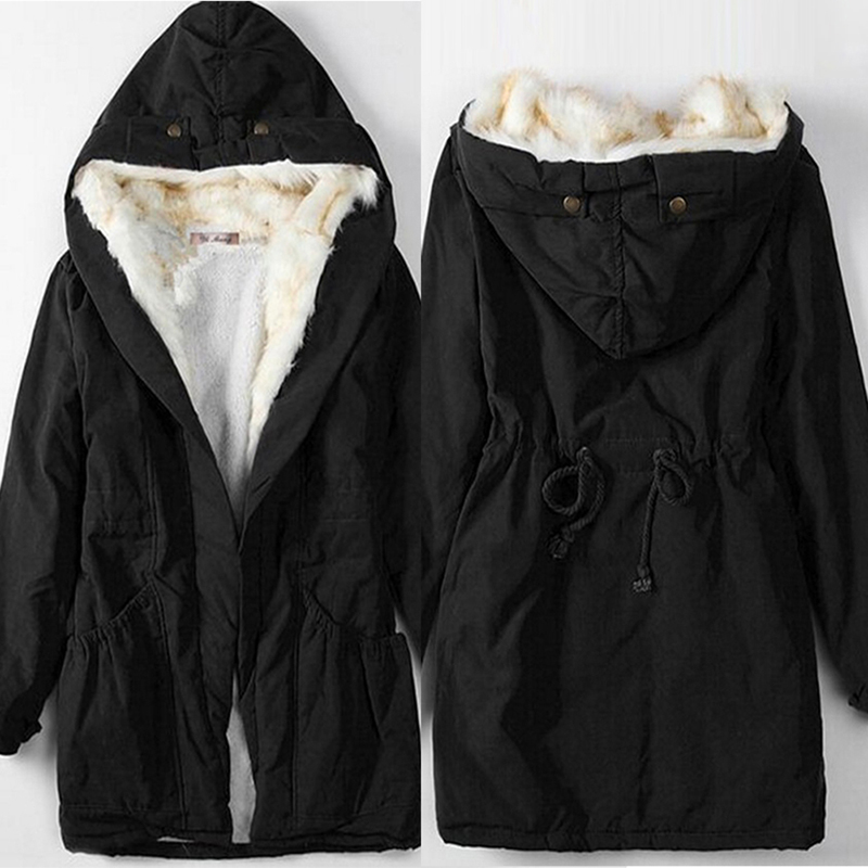 À Femme Chaud Rouge Outwear D'hiver Mi Parkas Manteau Veste Coton QorBCxeWd