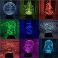 Star Wars 7 funk pop BB8 droid 3D Mini Bulding Night Light Toy 7colors change visual illusion LED lamp Darth Vader Best Price
