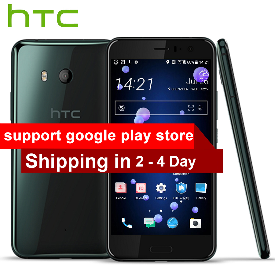 Original NEW HTC U11 Mobile Phone 4G LTE 6GB RAM 128GB ROM Snapdragon 835 Octa Core 5.5 Inch 2560x1440P IP67 Android Smartphone