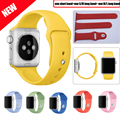 NEW ARRIVAL 6 Colors with Connector Replacement Silicone Watchband Sport Version 38mm/42mm Silicone Strap for Apple Watch