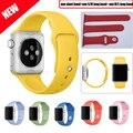 Nueva llegada de 6 colores con conector reemplazo correa de silicona deporte versión 38mm/42mm correa de silicona para apple watch