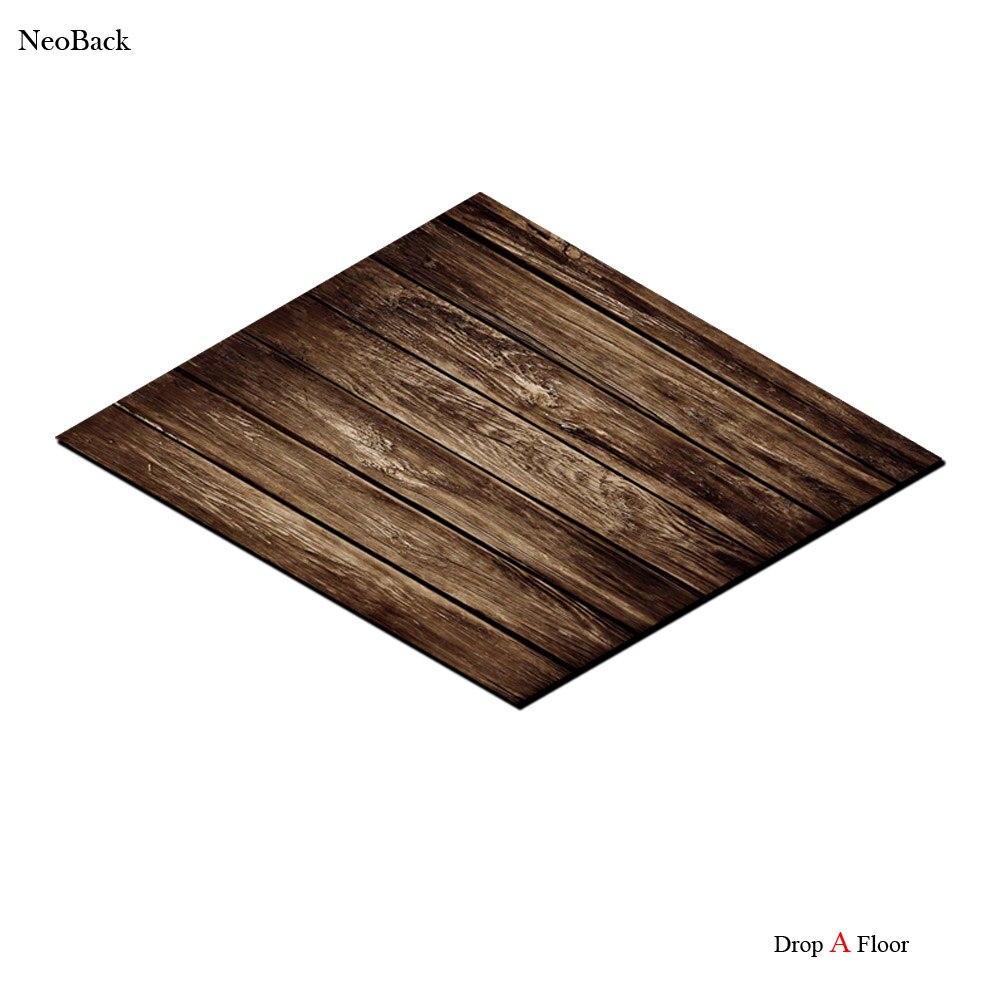 NeoBack Unique 4x5ft tapis de sol en caoutchouc brun mélange bois motif arrière-plans Photo rouleau un plancher populaire photos décors F0004