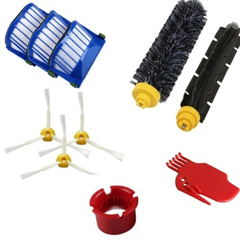 10 adet yedek parça Filtreleri ve Fırçalar için iRobot Roomba 600 610 620 serisi 650 elektrikli süpürge