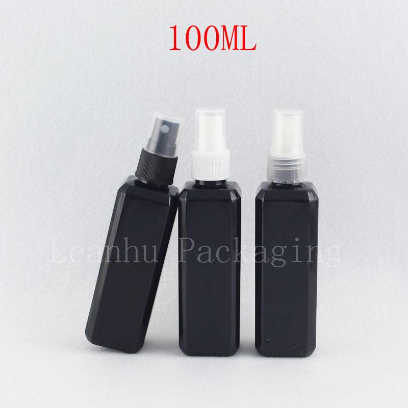 100ml X 50 Mist Sprayer Pump Black Plastic Bottles 100 cc Fine Mist Spray Perfume Container