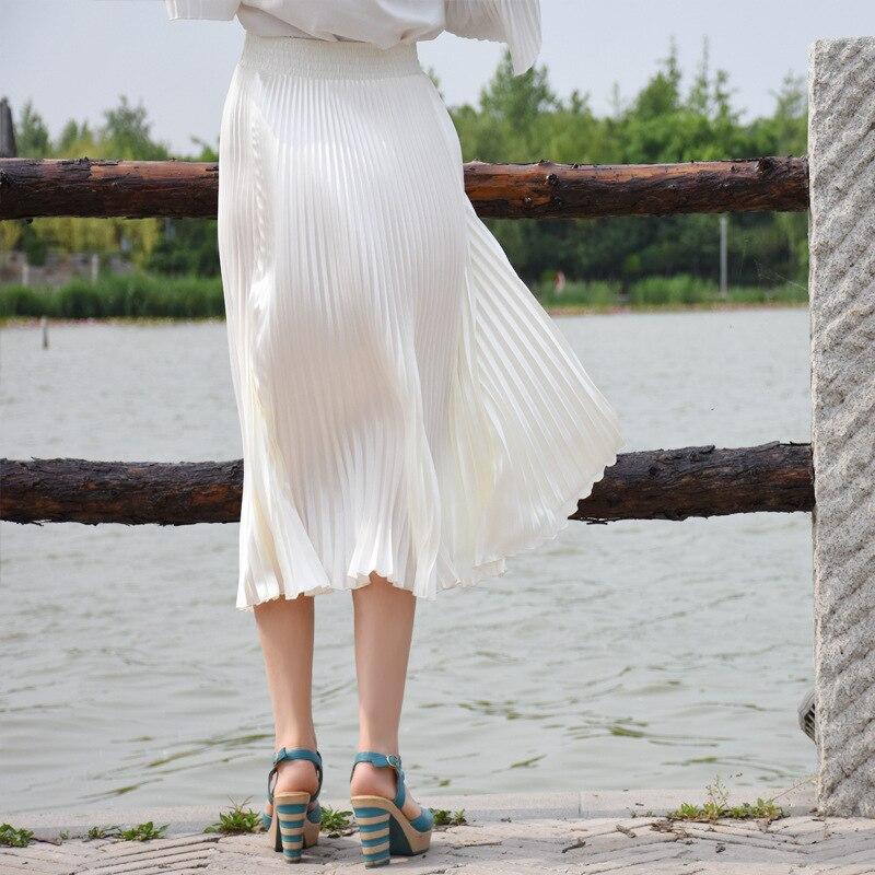2017 Verë e Re Stretch Moda e Re Bright Pleated Women Gratë Një - Veshje për femra - Foto 4