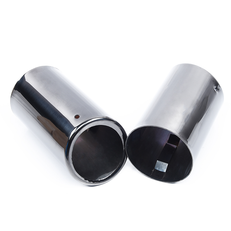 2x Car Rear Black Muffler Exhaust Tail Pipe Tube Tip For BMW E90 E92 325 325i