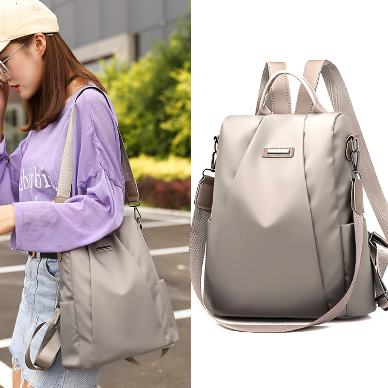 2018 New Fashion High Capacity Women Waterproof Oxford Cloth Travel Backpack Nylon Anti theft Double Shoulder Bag