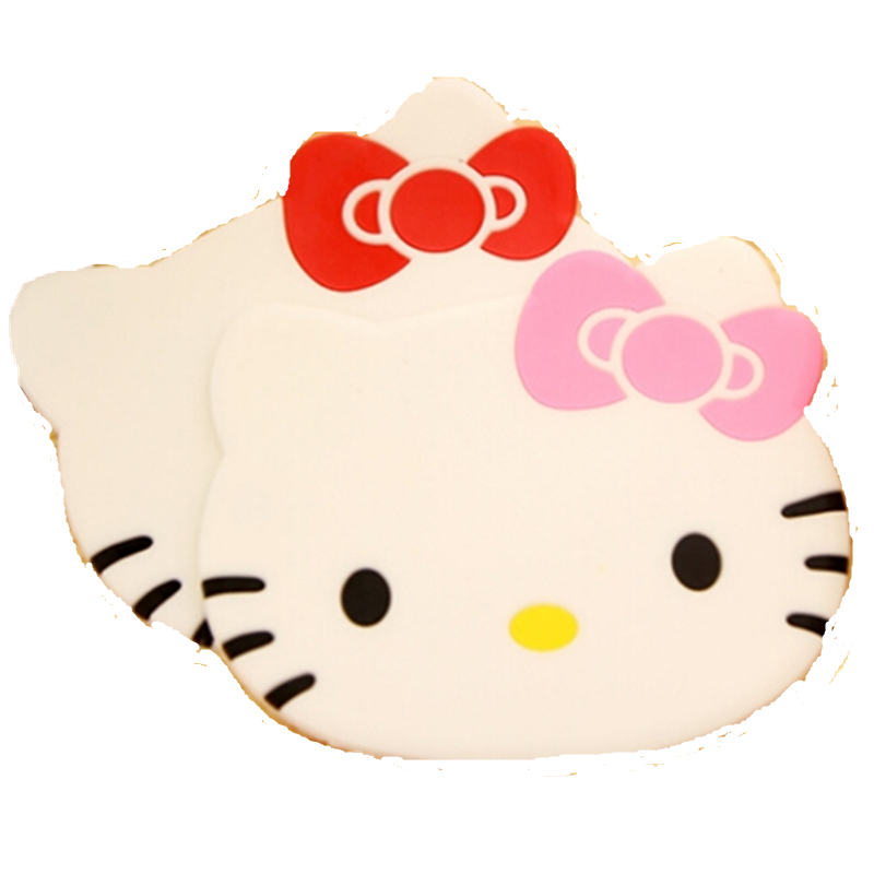 Hello Kitty Kitchen Accessories: 4pcs/Lot Hello Kitty Kitchen Accessories Silicone Coaster