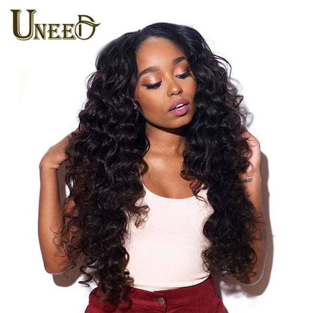 Paquetes de cabello peruano sueltas extensiones de cabello humano de onda profunda cabello Remy puede comprar 4 o 3 paquetes de Color Natural 1 pieza de la armadura del pelo