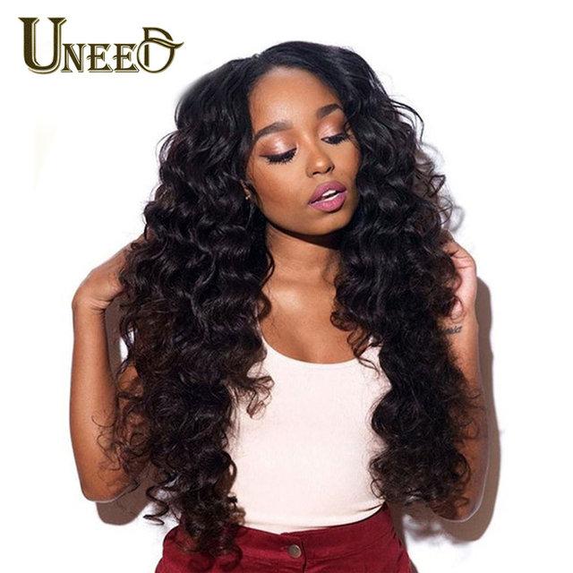 Paquetes de cabello peruano suelto de la onda profunda extensiones de cabello humano cabello Remy puede comprar 4 o 3 paquetes de Color Natural 1 pieza de la armadura del pelo