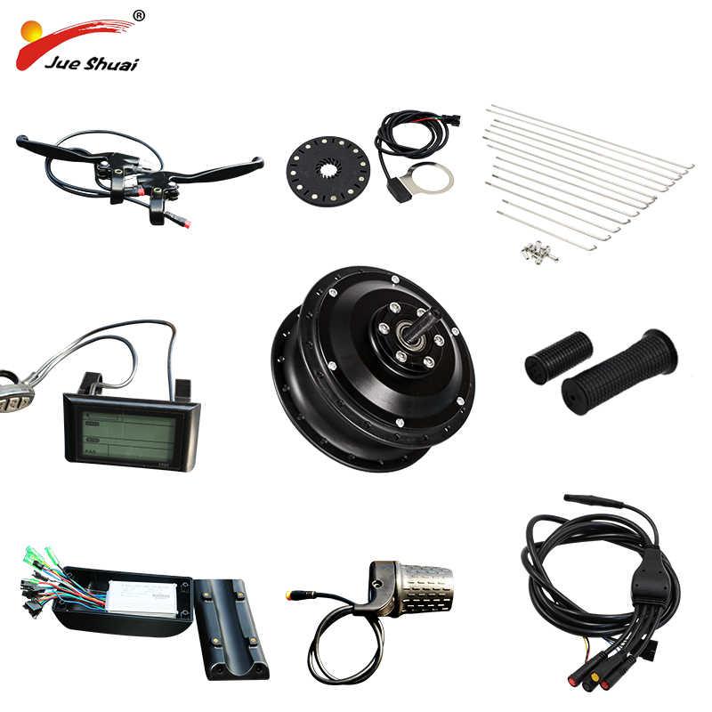 JS 36 V/48 V 350 W/500 W rower elektryczny bezszczotkowy silnik piasty E-zestaw rowerowy przedniego koła dla generatora rower elektryczny koła darmowa wysyłka
