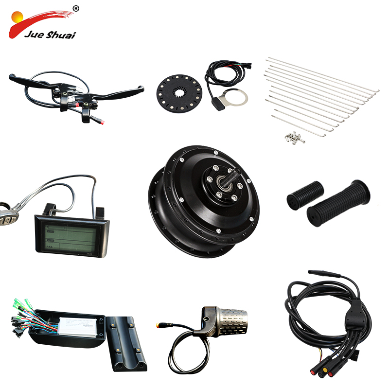 JS 36V/48V 350W/500W Electric Bike Brushless Hub Motor E bike Kit Front Wheel For Generator Bicycle Electric Wheel Free Shipping