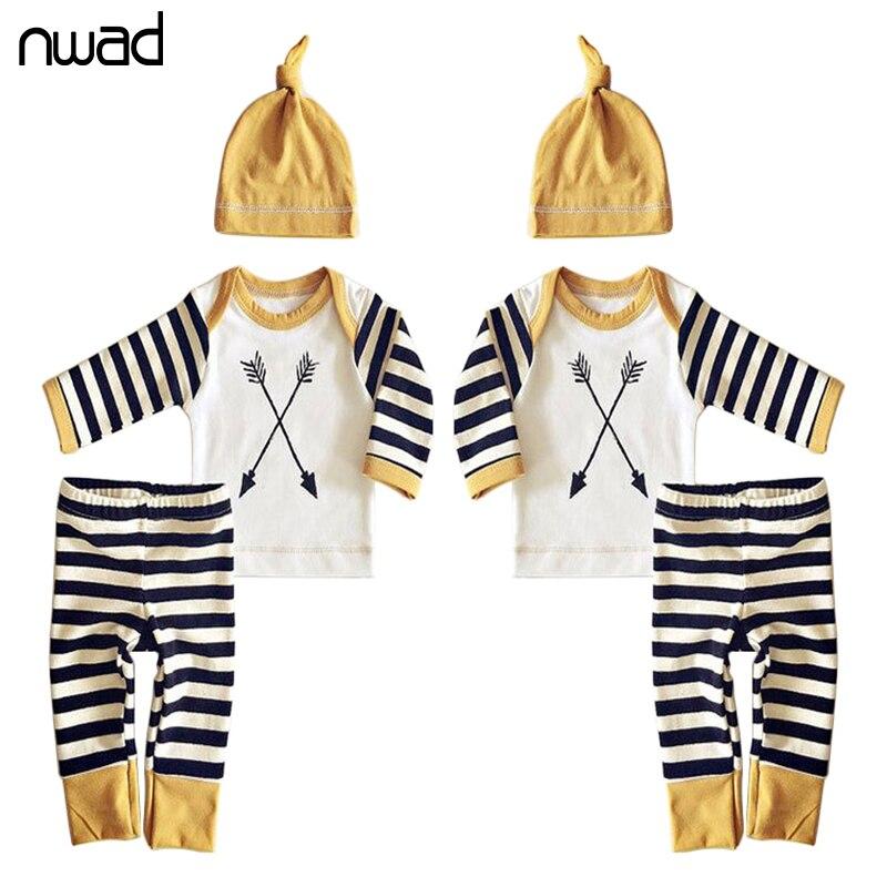 ᗕNwad lindo bebé niña recién nacido Ropa rayas ropa para bebé manga ...