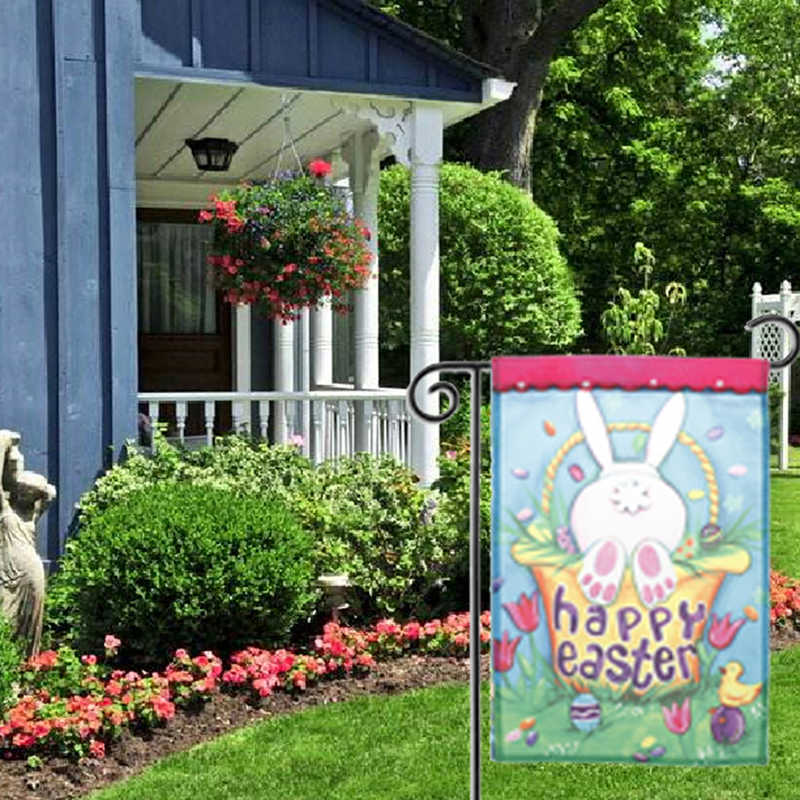 Ei Voor In De Tuin.Pasen Gras Verbergen Konijn Ei Tuin Vlag Indoor Outdoor Huishoudelijke Decor Vlaggen 30 Cm X 45 Cm