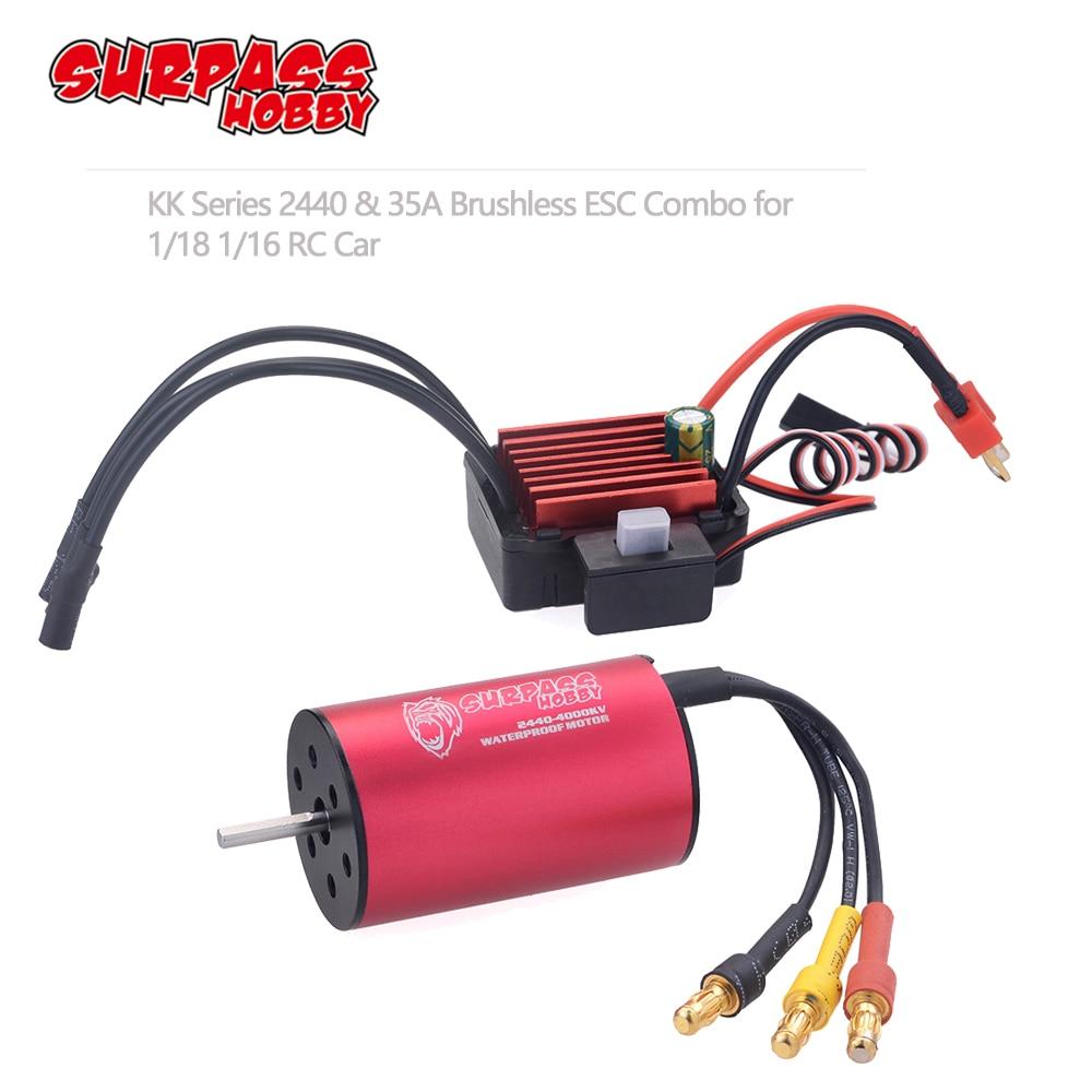 SURPASS 3660 3100KV//4200KV Waterproof Brushless Motor for 1//8 1//10 Scale RC Car