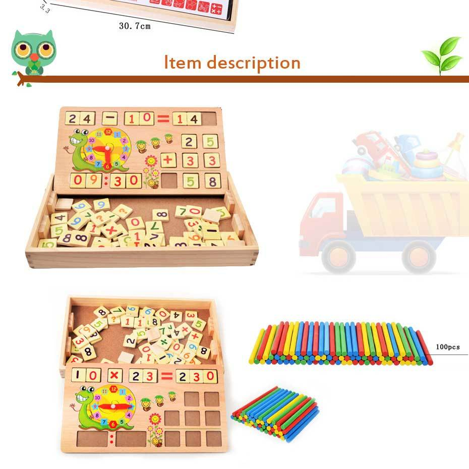 Simingyou montessori math toys Wooden Multifunctional Digital BoxKids Toys Learning Mathematics For Children Drop Shipping